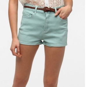 Urban Outfitters Teal high waisted shorts